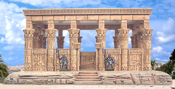 Egyptian temple mold for Architecture design company in egypt