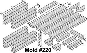 table Frostgrave / moule plâtre 220
