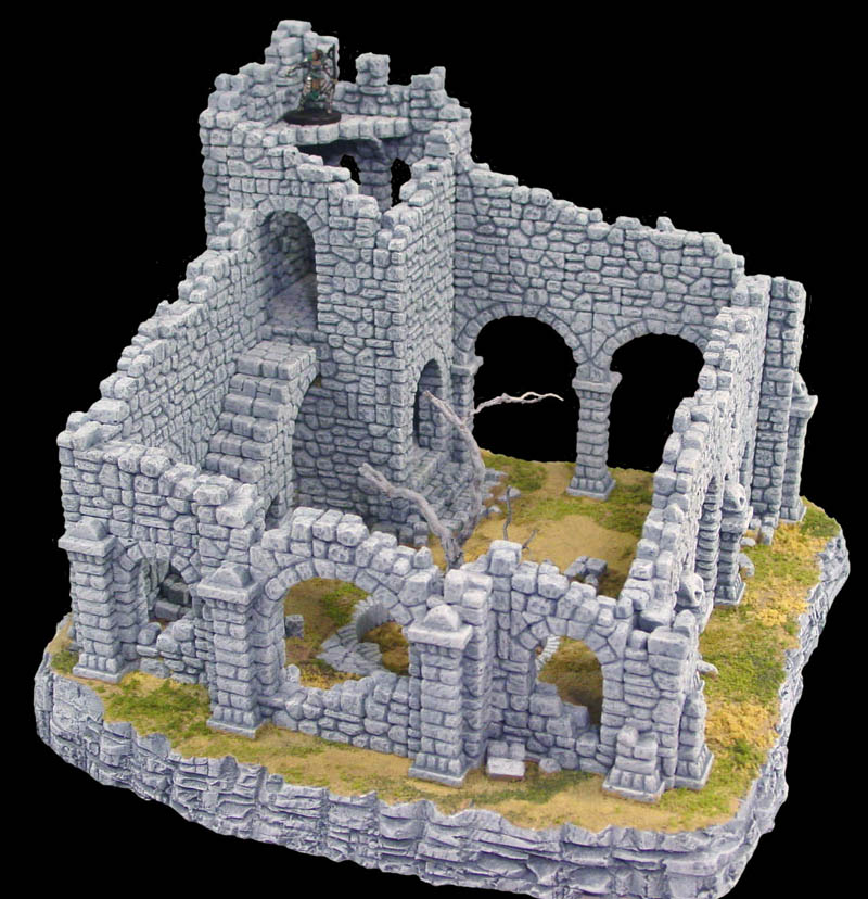 Ruined Fieldstone Tower Building Instructions