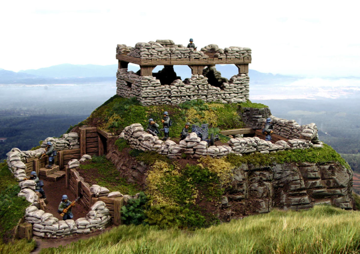 Sandbag fortress building instructions for Fortress build