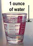 how to get 6 ounces of water